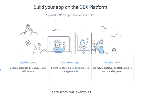 dropbox your app on the DBX platfrom