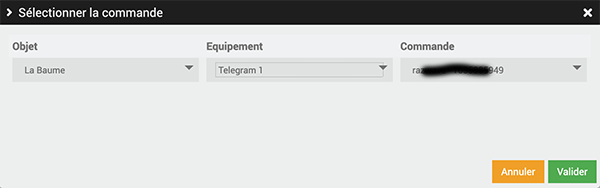 Jeedom Telegram commande
