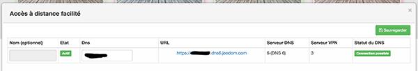 Configuration de DSN Jeedom
