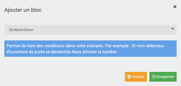 Jeedom la condition si sinon
