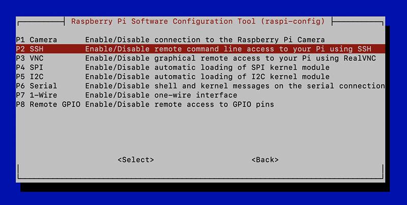 Raspberry ssh